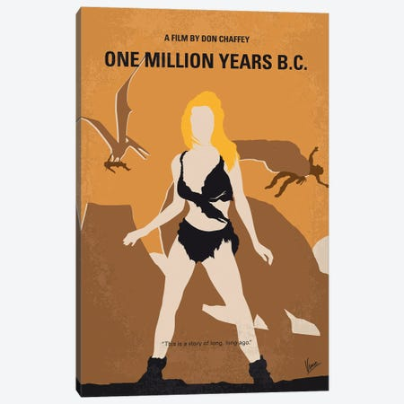 My One Million Years Bc Minimal Movie Poster Canvas Print #CKG1377} by Chungkong Canvas Print