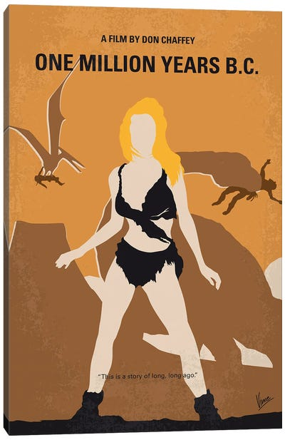 My One Million Years Bc Minimal Movie Poster Canvas Art Print