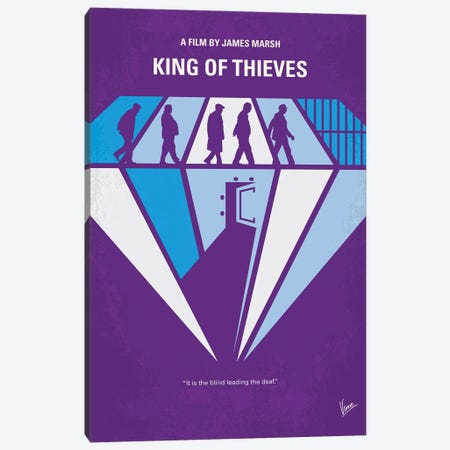 My King Of Thieves Minimal Movie Poster Canvas Print #CKG1378} by Chungkong Canvas Wall Art