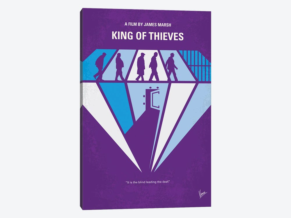 My King Of Thieves Minimal Movie Poster by Chungkong 1-piece Canvas Artwork