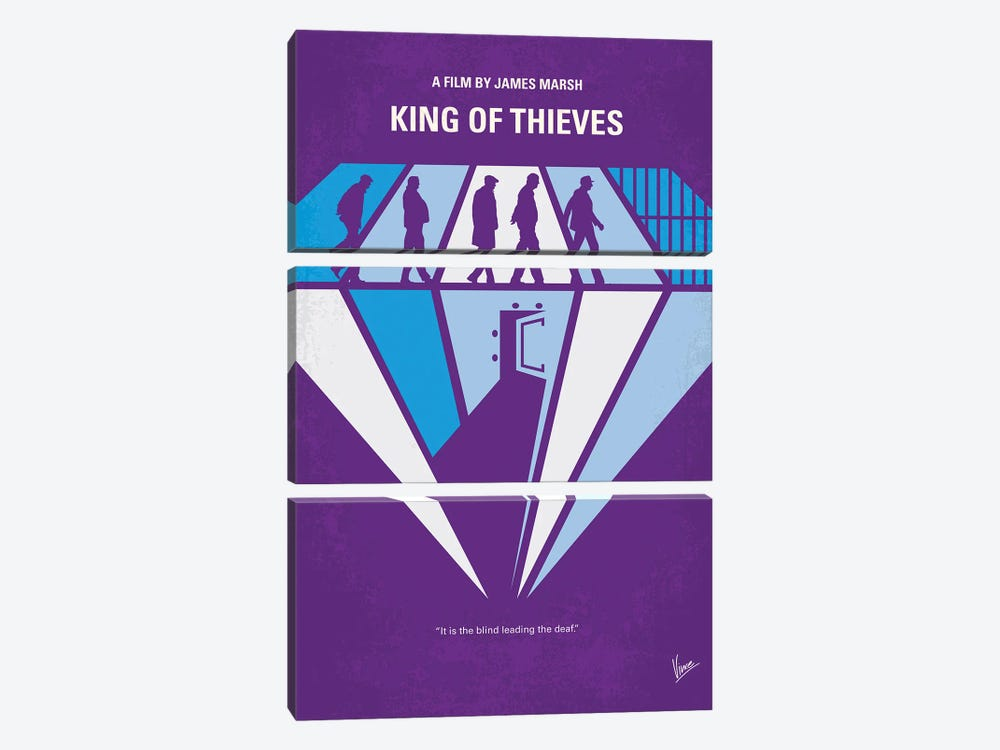 My King Of Thieves Minimal Movie Poster by Chungkong 3-piece Canvas Wall Art
