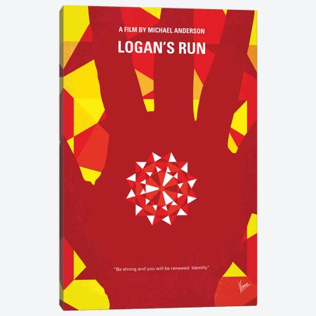 My Logans Run Minimal Movie Poster Canvas Print #CKG1379} by Chungkong Canvas Artwork