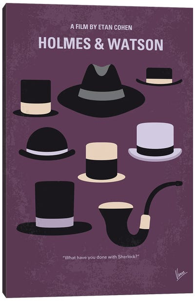 My Holmes And Watson Minimal Movie Poster Canvas Art Print