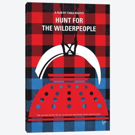 My Hunt For The Wilderpeople Minimal Movie Poster Canvas Print #CKG1381} by Chungkong Canvas Print