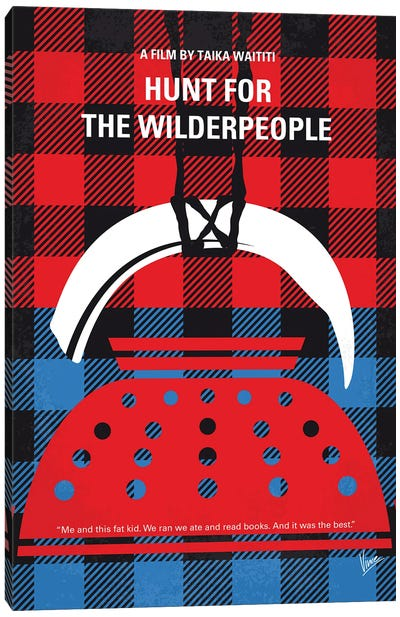 My Hunt For The Wilderpeople Minimal Movie Poster Canvas Art Print