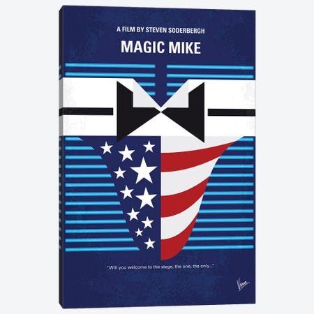 My Magic Mike Minimal Movie Poster Canvas Print #CKG1382} by Chungkong Art Print