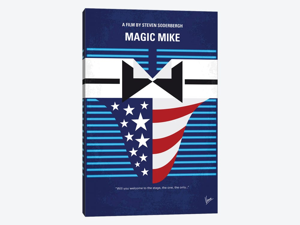 My Magic Mike Minimal Movie Poster by Chungkong 1-piece Canvas Art Print