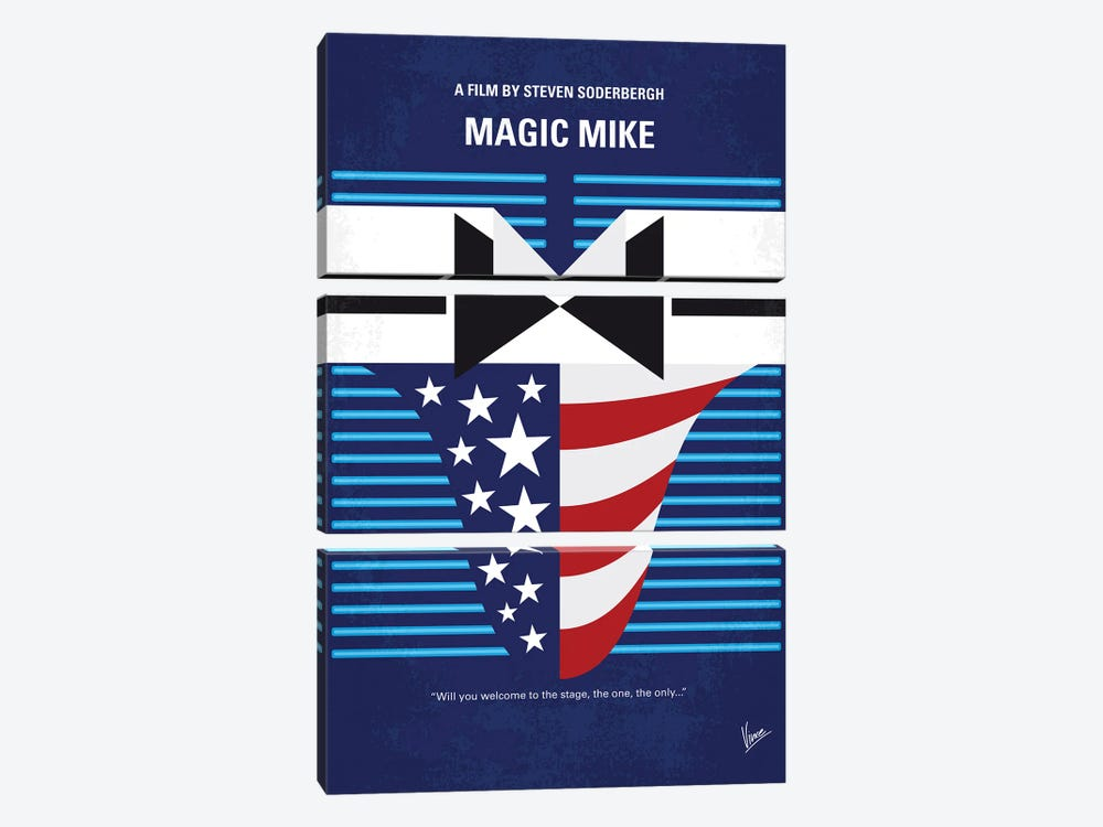 My Magic Mike Minimal Movie Poster by Chungkong 3-piece Art Print