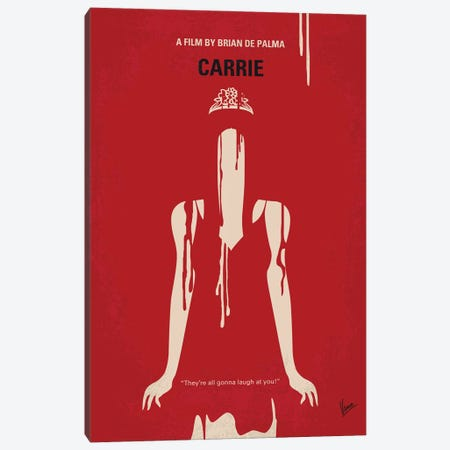 My Carrie Minimal Movie Poster Canvas Print #CKG1383} by Chungkong Canvas Print