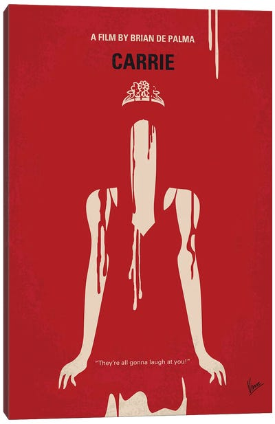 My Carrie Minimal Movie Poster Canvas Art Print