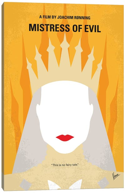 My Maleficent 2 Minimal Movie Poster Canvas Art Print