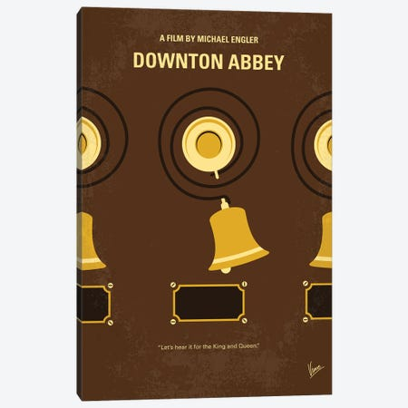 My Downton Abbey Minimal Movie Poster Canvas Print #CKG1386} by Chungkong Canvas Wall Art