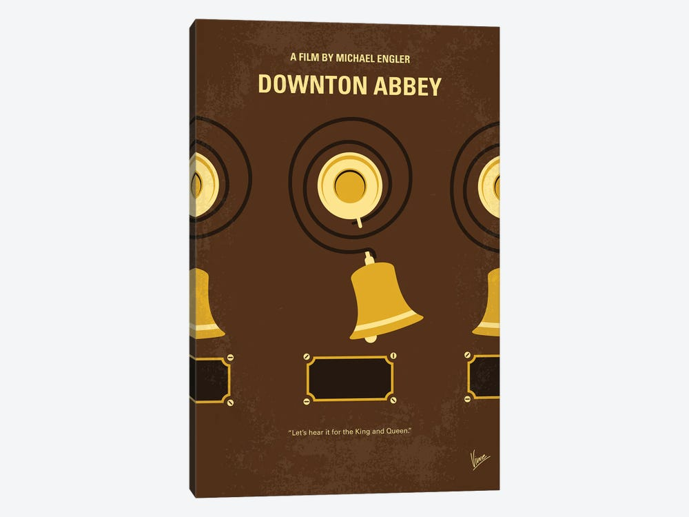 My Downton Abbey Minimal Movie Poster by Chungkong 1-piece Canvas Art Print