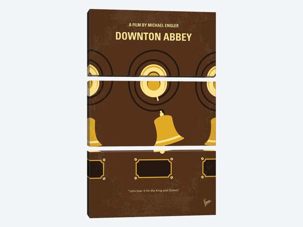 My Downton Abbey Minimal Movie Poster by Chungkong 3-piece Canvas Print