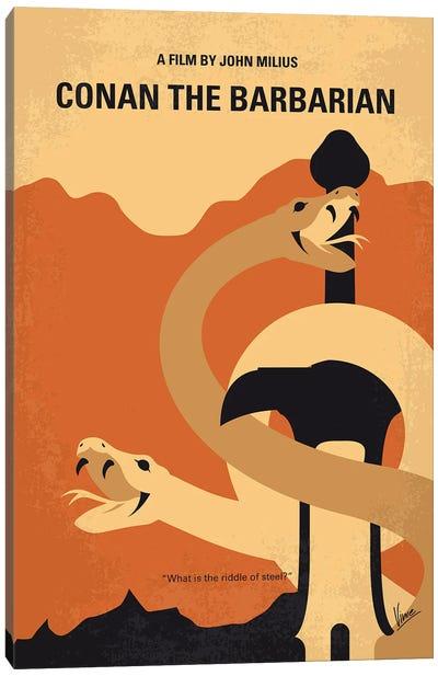 My Conan The Barbarian Minimal Movie Poster Canvas Art Print