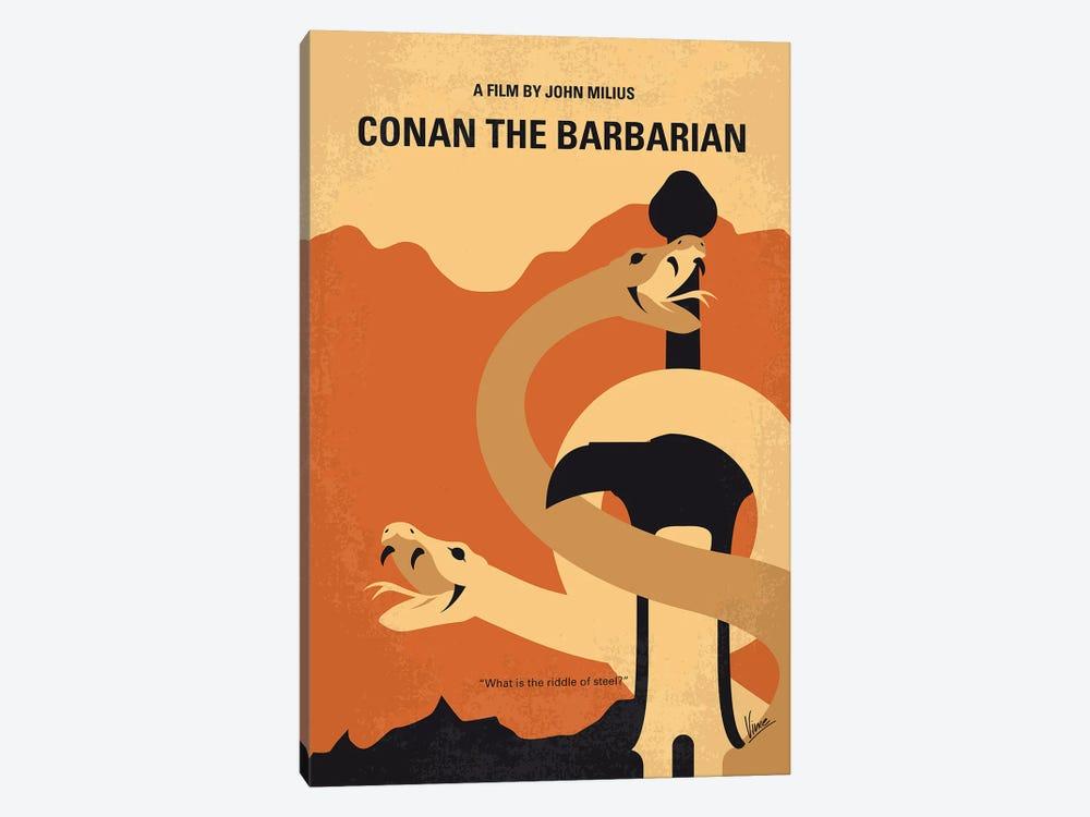 My Conan The Barbarian Minimal Movie Poster by Chungkong 1-piece Canvas Wall Art