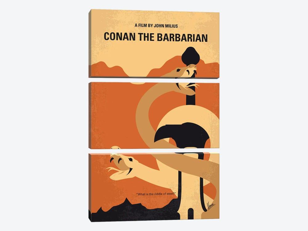 My Conan The Barbarian Minimal Movie Poster by Chungkong 3-piece Canvas Artwork