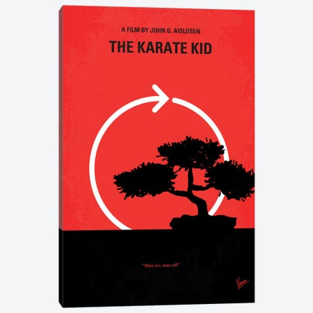 Karate Kid Minimal Movie Poster Canvas Print #CKG138} by Chungkong Canvas Print