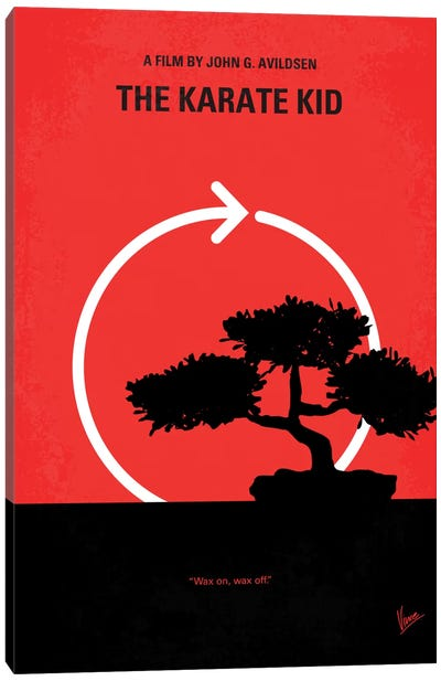 Karate Kid Minimal Movie Poster Canvas Print #CKG138