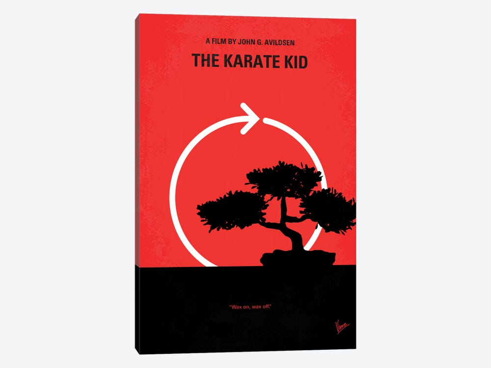 Karate Kid Minimal Movie Poster by Chungkong 1-piece Canvas Print
