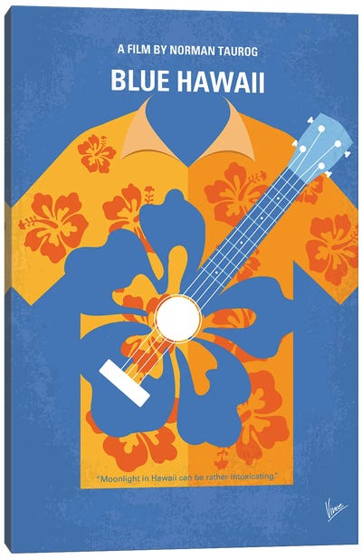 My Blue Hawaii Minimal Movie Poster Canvas Art Print