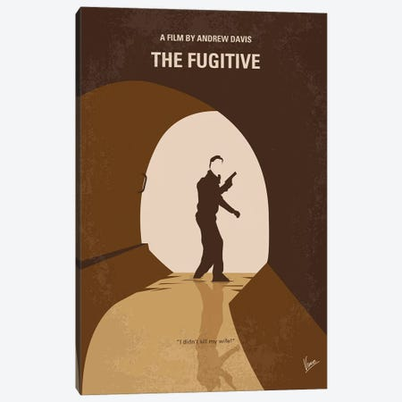 My The Fugitive Minimal Movie Poster Canvas Print #CKG1392} by Chungkong Canvas Art