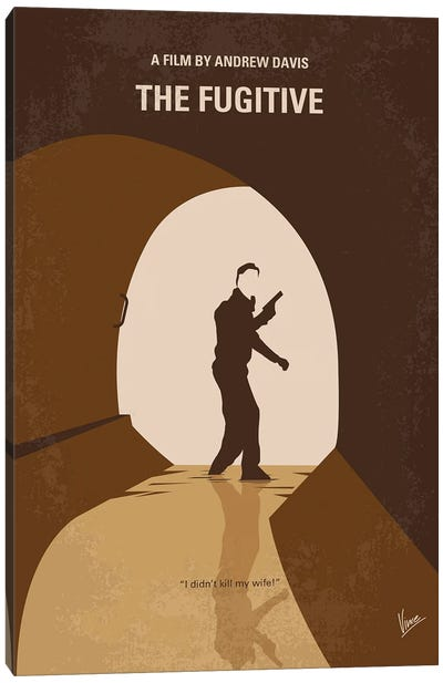 My The Fugitive Minimal Movie Poster Canvas Art Print