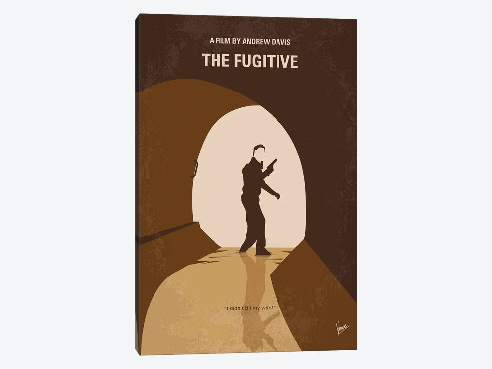 My The Fugitive Minimal Movie Poster by Chungkong 1-piece Canvas Artwork