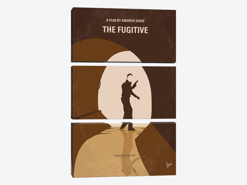My The Fugitive Minimal Movie Poster by Chungkong 3-piece Canvas Wall Art