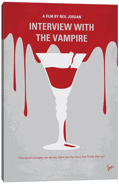 My Interview With The Vampire Minimal Movie Poster Canvas Art Print