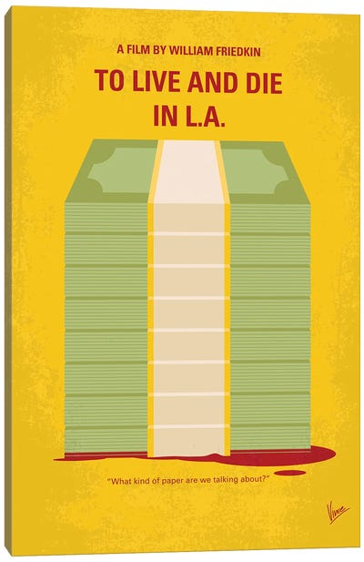 My To Live And Die In La Minimal Movie Poster Canvas Art Print