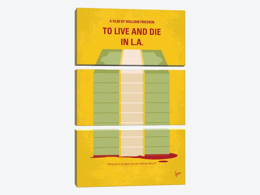 My To Live And Die In La Minimal Movie Poster by Chungkong 3-piece Art Print