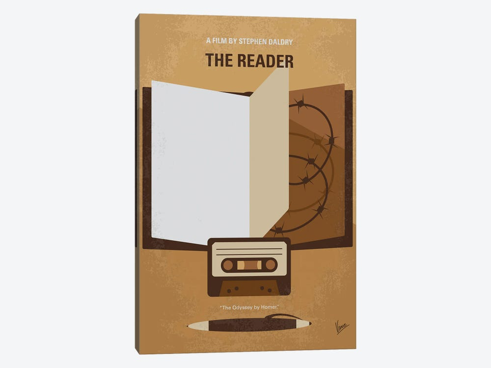 My The Reader Minimal Movie Poster by Chungkong 1-piece Canvas Art