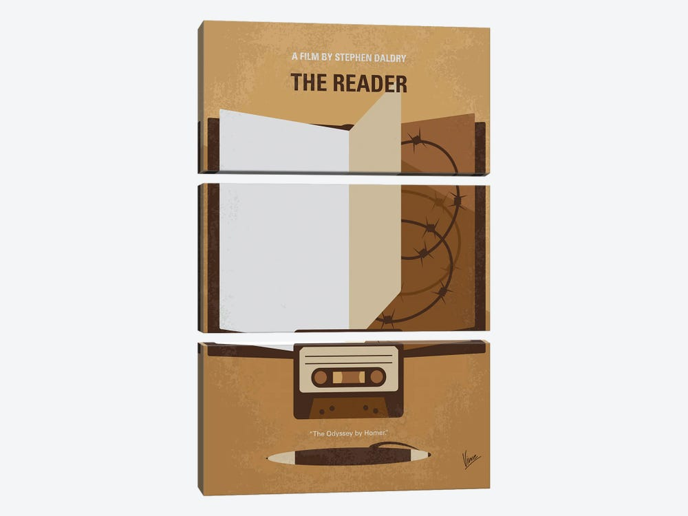 My The Reader Minimal Movie Poster by Chungkong 3-piece Canvas Art