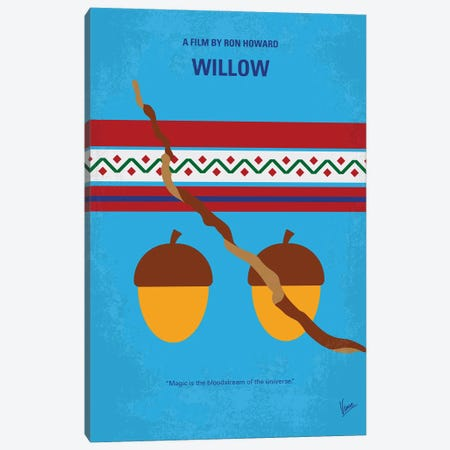 My Willow Minimal Movie Poster Canvas Print #CKG1397} by Chungkong Canvas Print