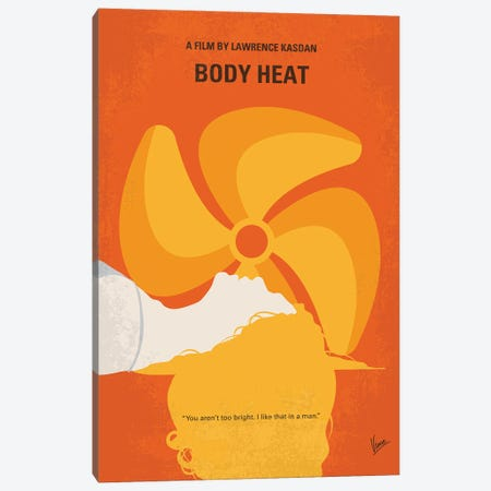 My Body Heat Minimal Movie Poster Canvas Print #CKG1399} by Chungkong Canvas Artwork