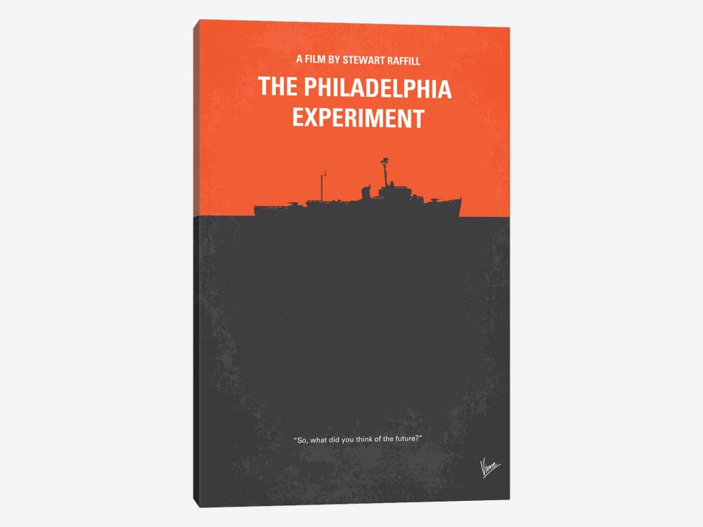 The Philadelphia Experiment Minimal Movie Poster by Chungkong 1-piece Canvas Artwork