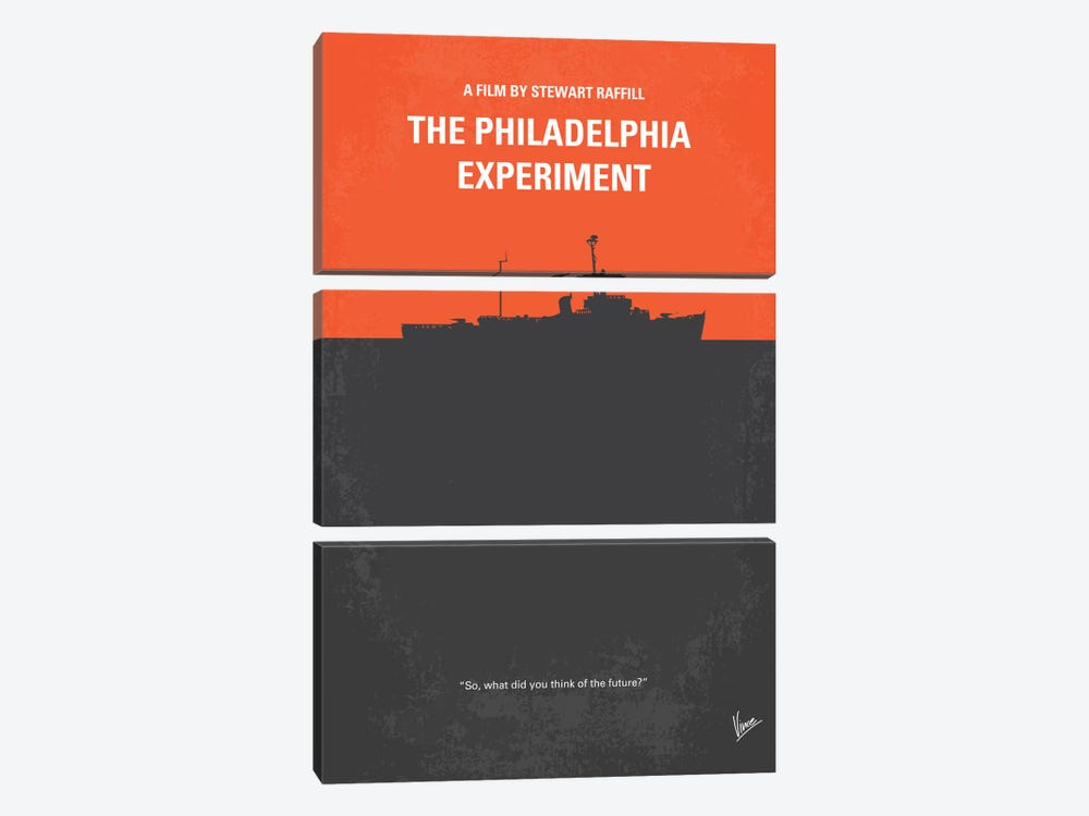 The Philadelphia Experiment Minimal Movie Poster by Chungkong 3-piece Canvas Artwork