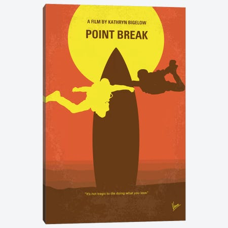 Point Break Minimal Movie Poster Canvas Print #CKG13} by Chungkong Canvas Wall Art