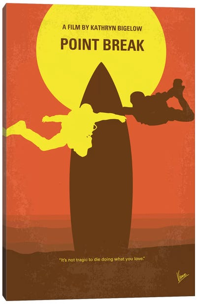 Point Break Minimal Movie Poster by Chungkong - Minimalist Movie Posters Canvas Art Print