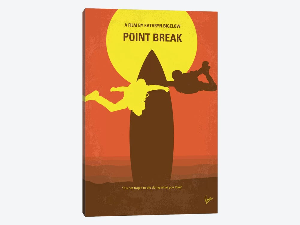 Point Break Minimal Movie Poster by Chungkong 1-piece Canvas Art Print