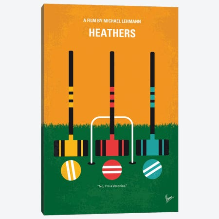 My Heathers Minimal Movie Poster Canvas Print #CKG1402} by Chungkong Canvas Wall Art