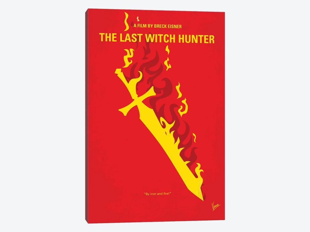 My The Last Witch Hunter Minimal Movie Poster by Chungkong 1-piece Canvas Print