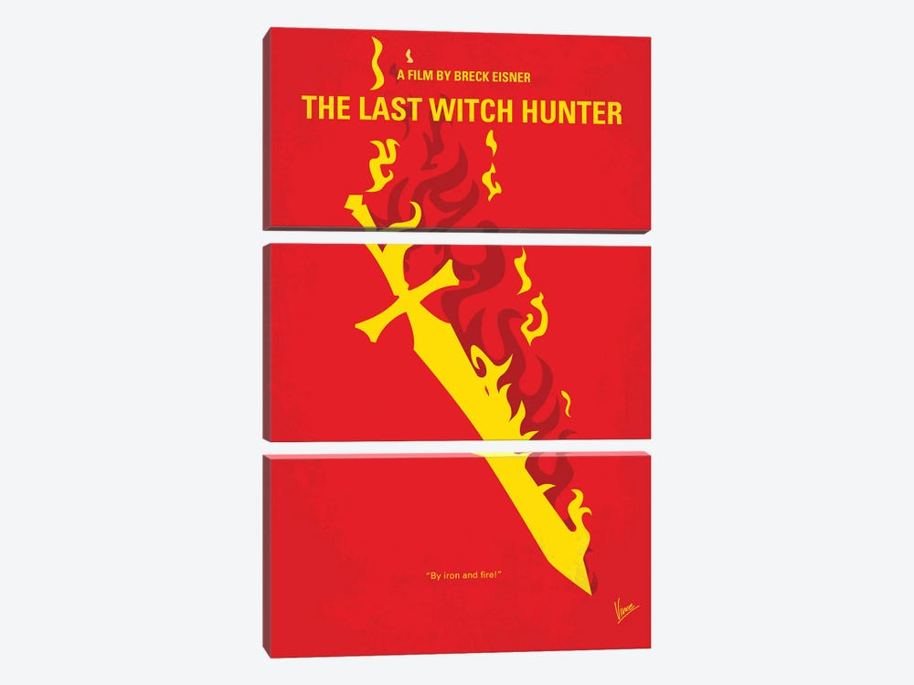My The Last Witch Hunter Minimal Movie Poster by Chungkong 3-piece Canvas Art Print