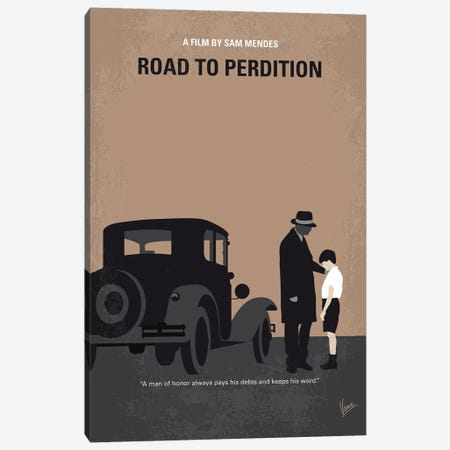 My Road To Perdition Minimal Movie Poster Canvas Print #CKG1405} by Chungkong Canvas Print