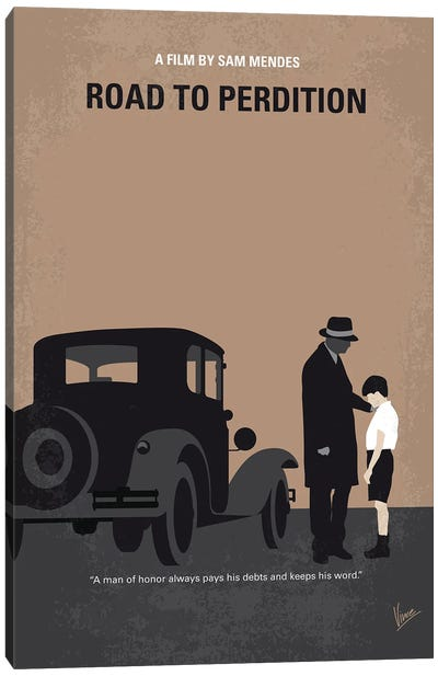 My Road To Perdition Minimal Movie Poster Canvas Art Print