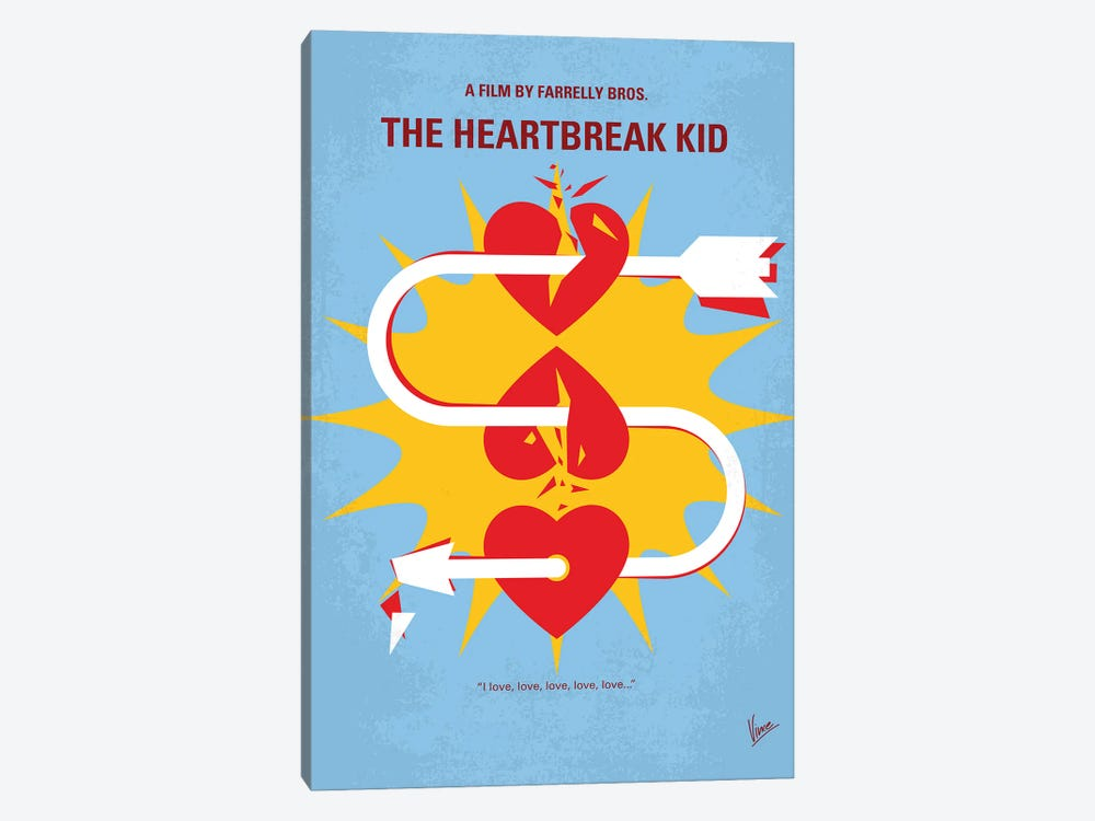 My The Heartbreak Kid Minimal Movie Poster by Chungkong 1-piece Canvas Art