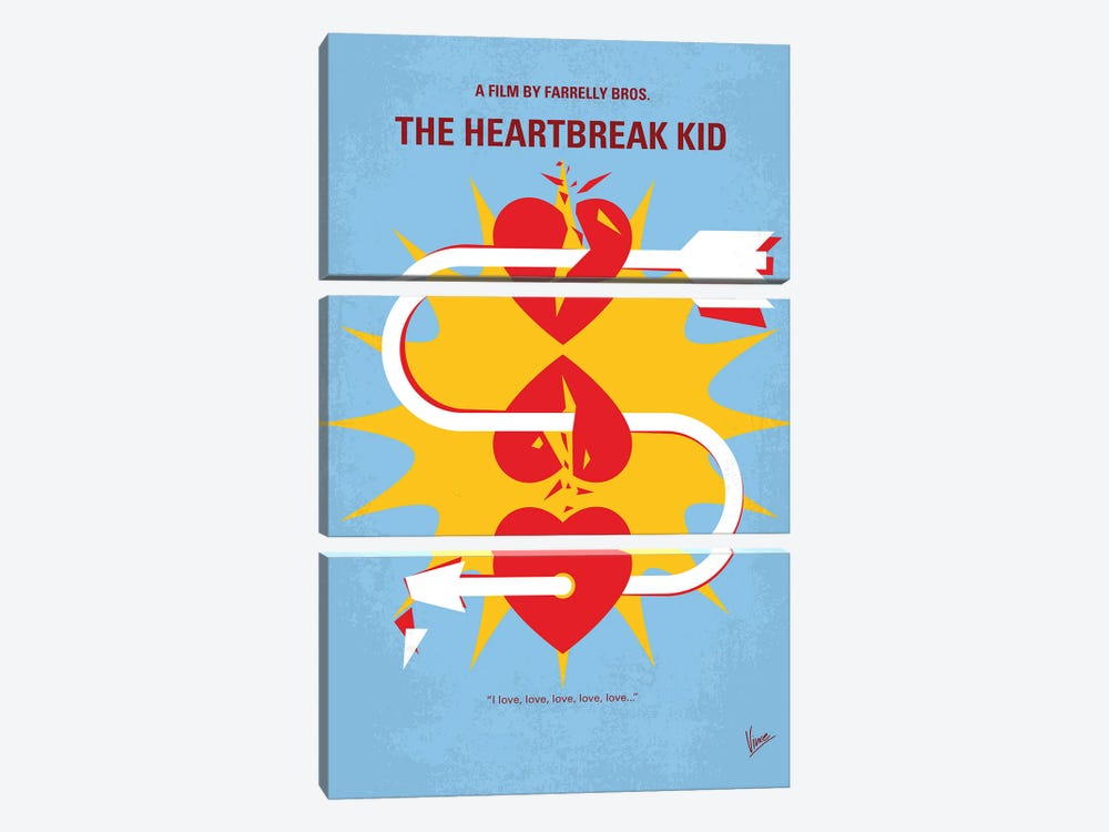 My The Heartbreak Kid Minimal Movie Poster by Chungkong 3-piece Canvas Wall Art