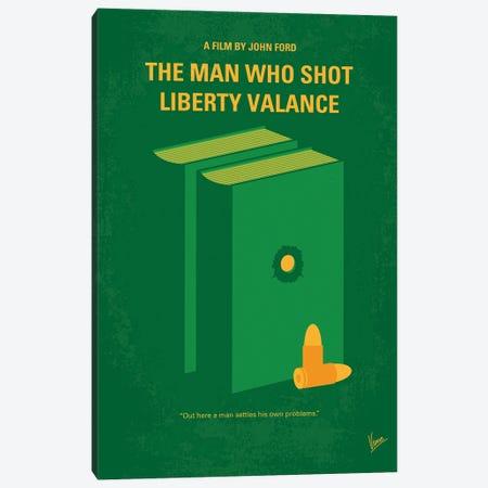 My The Man Who Shot Liberty Valance Minimal Movie Poster Canvas Print #CKG1407} by Chungkong Canvas Art Print