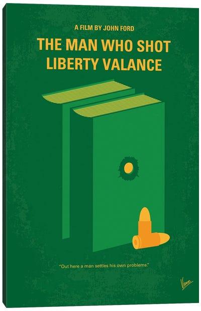 My The Man Who Shot Liberty Valance Minimal Movie Poster Canvas Art Print